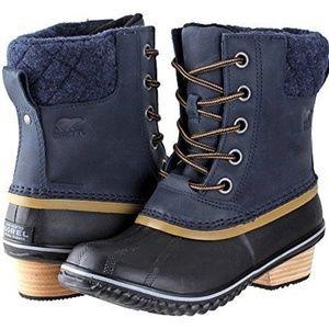 Sorel Slimpck II Duck Boots Waterproof Navy 6 M